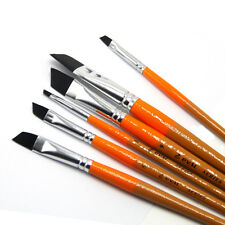 6pcs Painting Brushes Nylon Hair for Acrylic Gouache Artist Synthetic Oil
