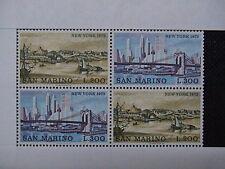 SAN MARINO 1973 2 serie francobolli TEMATICA : CITTA' deI MONDO NEW YORK em.001E