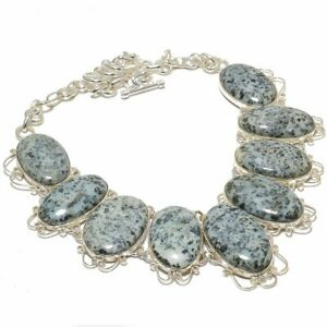 """African Chalco Pyrite Gemstone 925 Sterling Silver Necklace 16-18"""" W3191"""