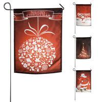 30 * 45cm noël cour bannière drapeau de jardin intérieur décoration extérieure