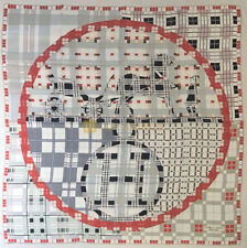 90 cm ex-libre a carreaux White Red Grey Brand New HERMES scarf