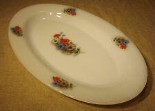 Plat ovale Arcopal vintage 60's 70's décor fleurs   n°1
