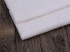 Reste 0,45  Weiß Barock Muster Leinen Vintage 100% Leinen Stoff,  Jute Struktur