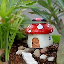 1 pcs Micro Champignon Résine Artisanat Mini paysage maison de poupée maison de fées Jardin
