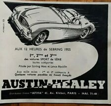 publicité ancienne automobiles Austin-healey 1955 issue de magazine