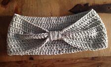 Turbante Diadema Bebe Cinta Pelo Beige Nuevo Talla 6/12 Meses Crochet Ganchillo
