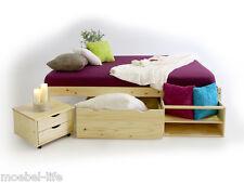CLAAS Funktionsbett Doppelbett Bett mit Stauraum Schubladen Kiefer Holz 180x200