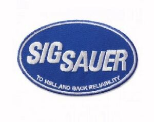 Sig Sauer Blue Embroidered Iron-On Sew-On Patch - NEW