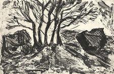 Originale Monotypien (1950-1999) mit Landschafts-Motiv