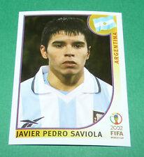 N°400 SAVIOLA ARGENTINA PANINI FOOTBALL JAPAN KOREA 2002 COUPE MONDE FIFA