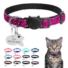 Breakaway Cat Collar Personalized ID Tags Custom ID Engraved Name for Pet Kitten