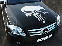 Car Hood Vinyl Sticker Full Color Graphic Wrap Punisher Decal