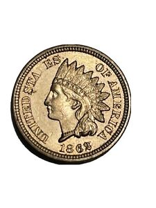 1862 Copper Nickel Indian Head Cent Mint Error UNC
