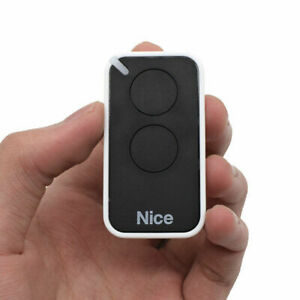 Replacement For NICE Era-Inti 2, ON2, 2Button Black Gate Barrier Remote Control