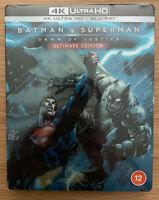 Batman v Superman Dawn of Justice Ultimate Edition 4K + Blu-ray Steelbook New