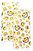 Kitchen Dish Hand Towels Emoji Faces Yellow Set of 2 15 x 25 New