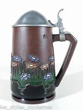 DÜMLER & Breiden Jugendstil Art Nouveau Krug ° Terra Sigillata Deckelkrug