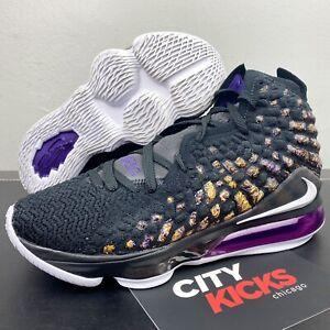 Nike Lebron 17 Mens Sz 10 LA Lakers Purple Yellow Basketball Shoes BQ3177 004