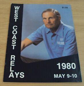 """1980 'OFFICIAL Program' """"WEST COAST RELAYS""""~Last Year Dutch WARMERDAM~Fresno CAL"""