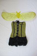 Sexy Cute Bee Honeybee Halloween Costume with Wings Bumblebee Women Adult NEW