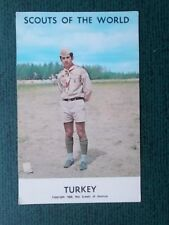 SCOUTS OF THE WORLD POSTCARD - TURKEY - 1968 BOY SCOUTS OF AMERICA