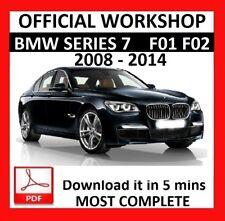 > Servicio de reparación oficial Manual de taller bmw serie 7 F01 F02 F03 F04 2008-2015
