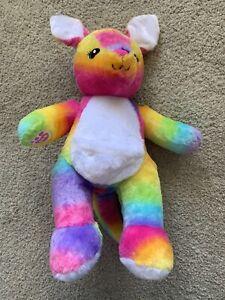 Build A Bear BAB Workshop Plush Toy Rainbow Coloured Kangaroo Cute!