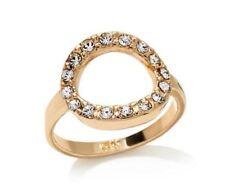 NEW! Melissa Gorga Clear Stone Pavé Open Circle Goldtone Ring Size 7