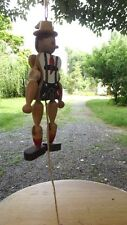 Vintage Wooden Pull String Puppet Male Figure Made in Austria