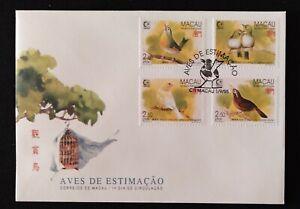 Macau FDC with 4 stamps - Pet Birds - Macau - 1995