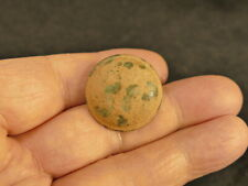 18Th Century Spanish Colonial Rimmed Copper Alloy Military Coat Button 25.5Mm