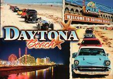 Daytona Beach Florida, Automobiles Cars, Ferris Wheel Amusement, FL --- Postcard