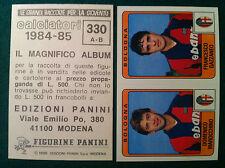 CALCIATORI 1984-85 84-1985 n 330 BOLOGNA MARICCHINO Figurine Panini con velina