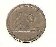 Offer> Malaysia Parliament 1967  5sen  coin high grade!