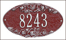 Whitehall ROSE Oval Address Marker Personalized Plaque Sign - 17 Color Choices
