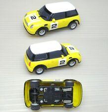 2007 Micro Scalextric MINI COOPER HO Slot Car UK Yellow