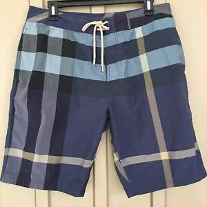 EUC Burberry Brit Men's Nova Check Board Shorts Swim Trunks Large
