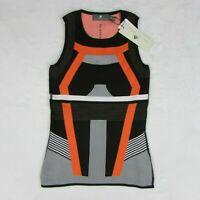 adidas by Stella McCartney Run Primeknit Tank Top Black & Orange Women's XS $90