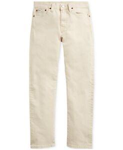Polo Ralph Lauren Boys 10,12,14,16,18,20 Sullivan Slim Skinny Jeans Pants Stone