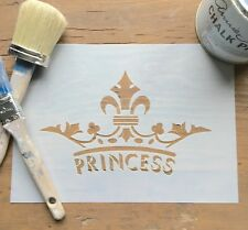 Princess Crown Stencil, My Princess Bedroom Stencil, Designer Wall Craft Stencil