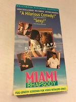 MIAMI RHAPSODY, SARAH JESSICA PARKER, ANTONIO BANDERAS, VHS SCREENER COPY