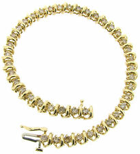 14 Carat Yellow Gold Not Enhanced Fine Diamond Bracelets