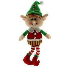 20cm Happy Christmas Merry Elf Hanging Fabric Tree Ornament Decoration