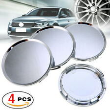 4Pcs 63mm Chrome ABS Plastic Car Wheel Center Rim Hub Cover Caps Blank Silver