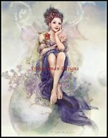 Chart Needlework Embroidery DIY - Counted Cross Stitch Pattern - Fairy Thinking