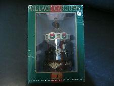 "EUC 1998 Maisto Village Carousel Animated Musical 9"" Christmas Display"