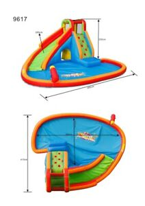 Island Waterfall Oasis inflatable water slide complete kit with blower