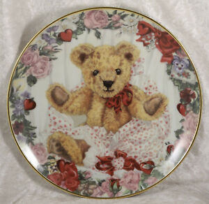 Franklin Mint A Valentine for Teddy china collectors plate Teddy Bear