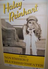 HALEY REINHART in Concert Show Poster Denver Co November 2nd 2017 Very COOL