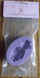 Silicone Mould - Teddy Bear - Cake Decorating Fondant Making Sugarcraft Cupcakes